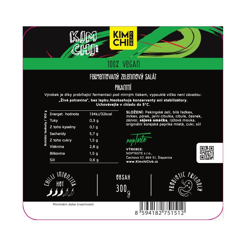 Kimchi 100% vegan 300g.