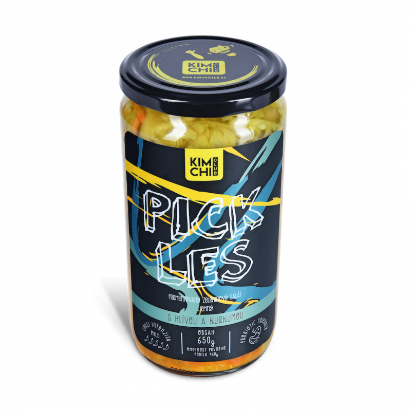 Pickles s hlívou a kurkumou 650g.