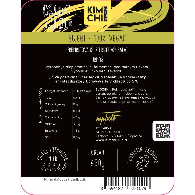 Kimchi Sweet 100% vegan 650g.